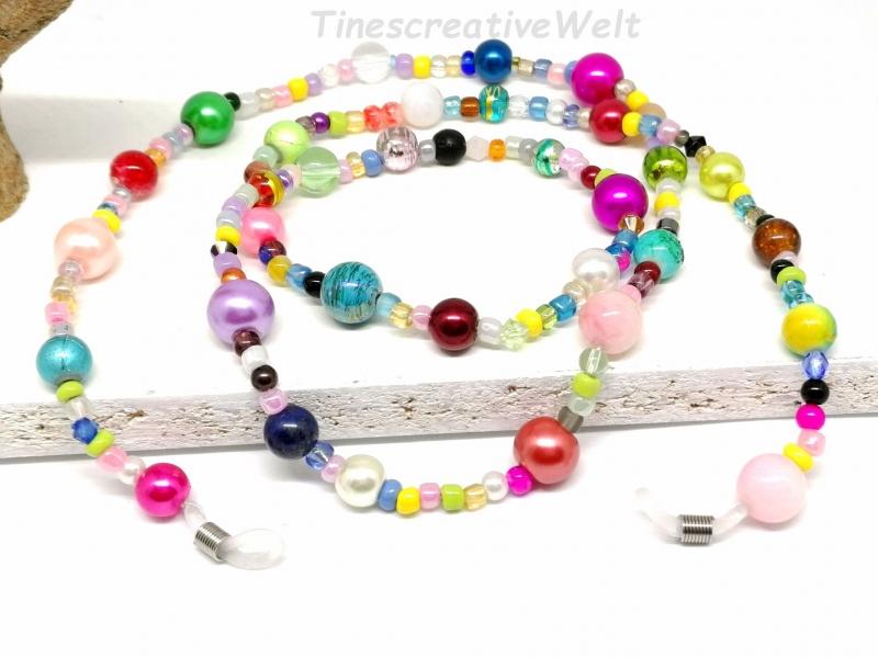 - Kunterbunte Brillenkette aus Perlen, Glasperlen, Geschenk für Frauen  - Kunterbunte Brillenkette aus Perlen, Glasperlen, Geschenk für Frauen