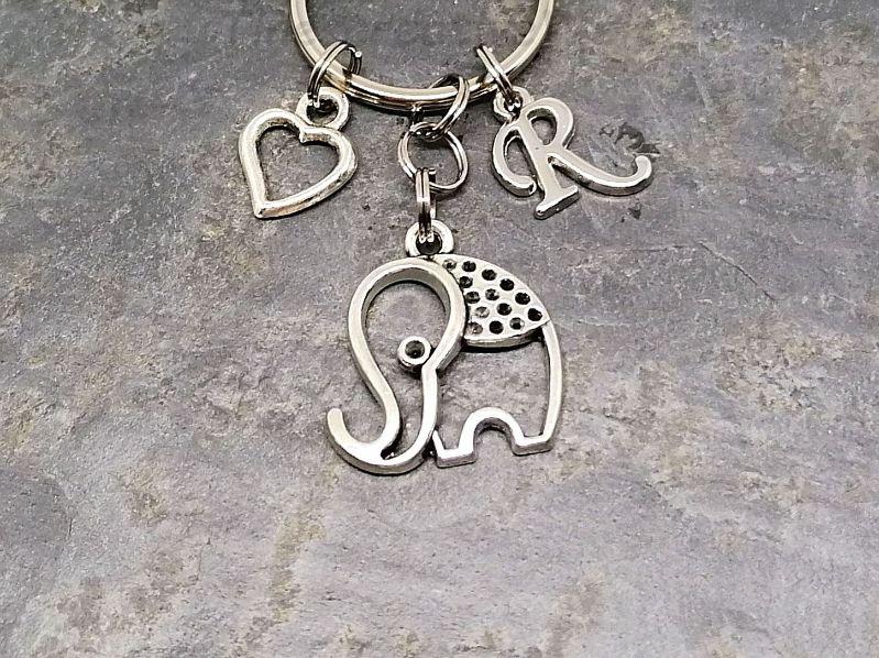 Kleinesbild - Personalisierter Anhänger, Elefant, Tier, Glück, Anhänger, Schlüsselanhänger, Taschenanhänger, Geschenk