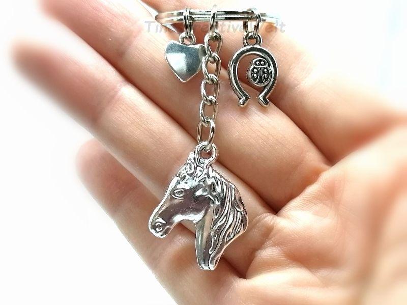 Kleinesbild - Schlüsselanhänger, Pferd, Glücksbringer, Hufeisen, Marienkäfer, Geschenk, VERSCHIEDENE FORMEN