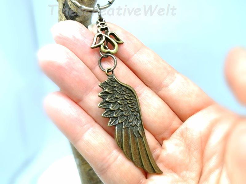 Kleinesbild - Schlüsselanhänger, Engelsflügel, Schutzengel, Taschenanhänger, Glücksbringer, Geschenk für Männer und Frauen