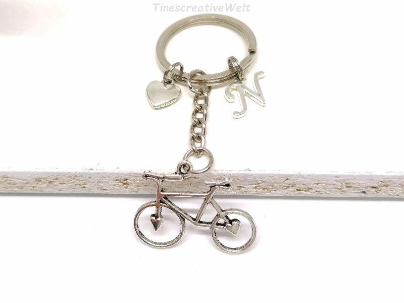 - Schlüsselanhänger, personalisiert, Fahrrad, Rad, Herz, Glücksbringer, Geschenk - Schlüsselanhänger, personalisiert, Fahrrad, Rad, Herz, Glücksbringer, Geschenk
