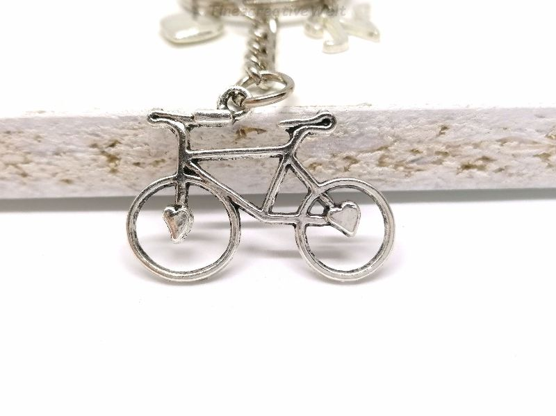 Kleinesbild - Schlüsselanhänger, personalisiert, Fahrrad, Rad, Herz, Glücksbringer, Geschenk