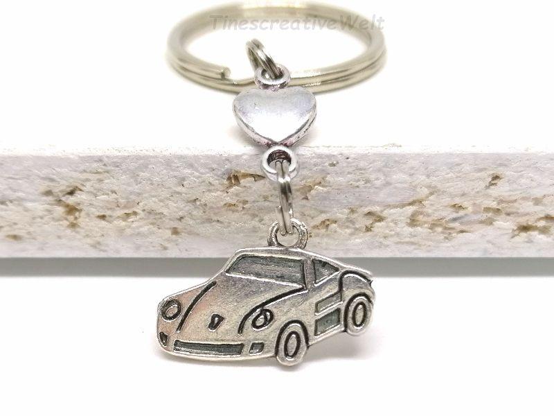 Kleinesbild - Schlüsselanhänger, Auto, fahr vorsichtig, Führerschein, Herz, Glücksbringer, Geschenk, Geburtstag
