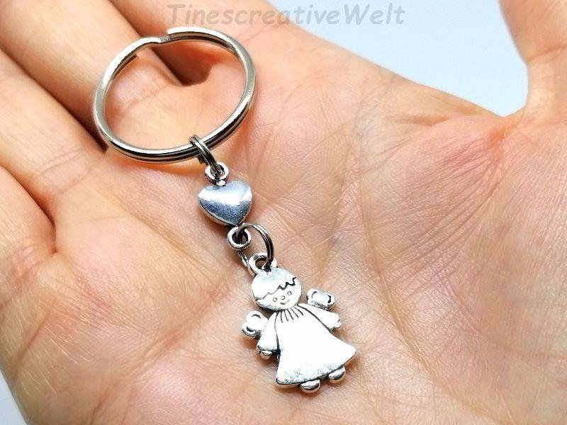 Kleinesbild - Schlüsselanhänger, Schutzengel, Herz, Glücksbringer, Dankeschön, Engel, Geschenk