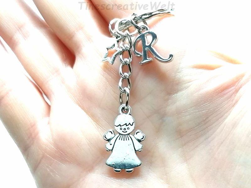 Kleinesbild - Personalisierter Schlüsselanhänger, Schutzengel, Stern, Glücksbringer, Dankeschön, Engel, Geschenk