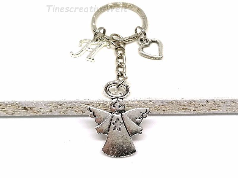 - Personalisierter Schlüsselanhänger, Schutzengel, Herz, Glücksbringer, Dankeschön, Engel, Geschenk - Personalisierter Schlüsselanhänger, Schutzengel, Herz, Glücksbringer, Dankeschön, Engel, Geschenk