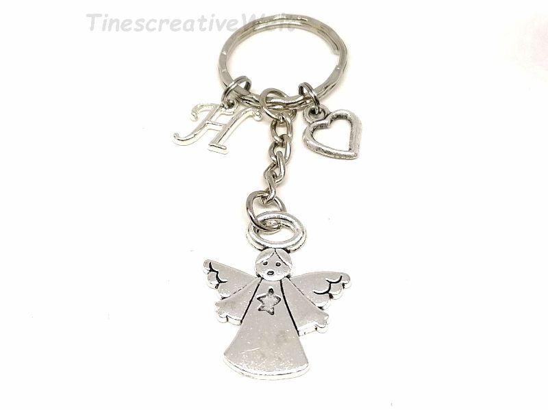 Kleinesbild - Personalisierter Schlüsselanhänger, Schutzengel, Herz, Glücksbringer, Dankeschön, Engel, Geschenk