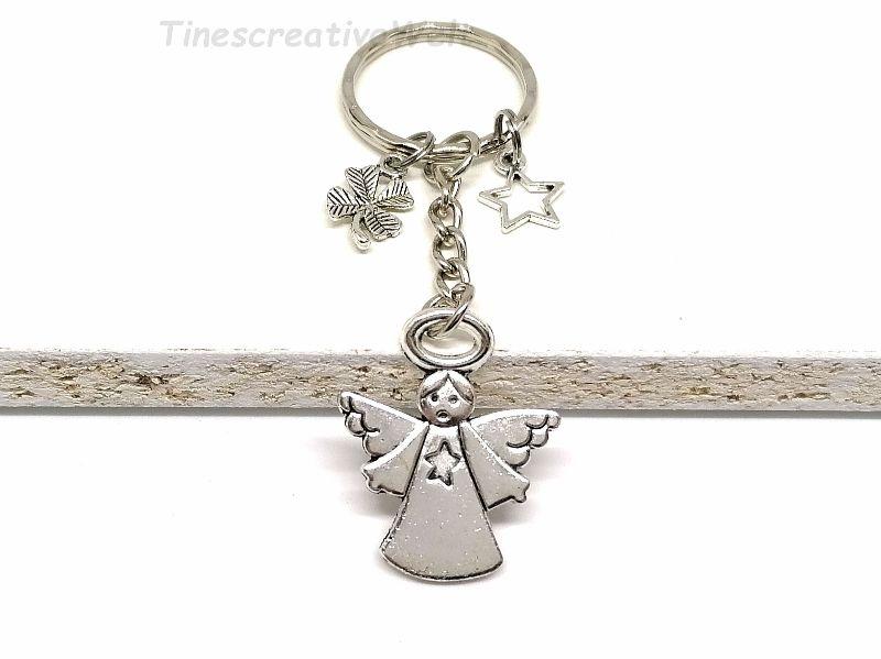 -  Schlüsselanhänger, Schutzengel, Herz, Stern, Glücksbringer, Dankeschön, Engel, Geschenk -  Schlüsselanhänger, Schutzengel, Herz, Stern, Glücksbringer, Dankeschön, Engel, Geschenk