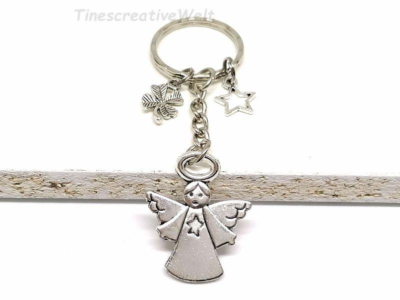 Kleinesbild -  Schlüsselanhänger, Schutzengel, Herz, Stern, Glücksbringer, Dankeschön, Engel, Geschenk