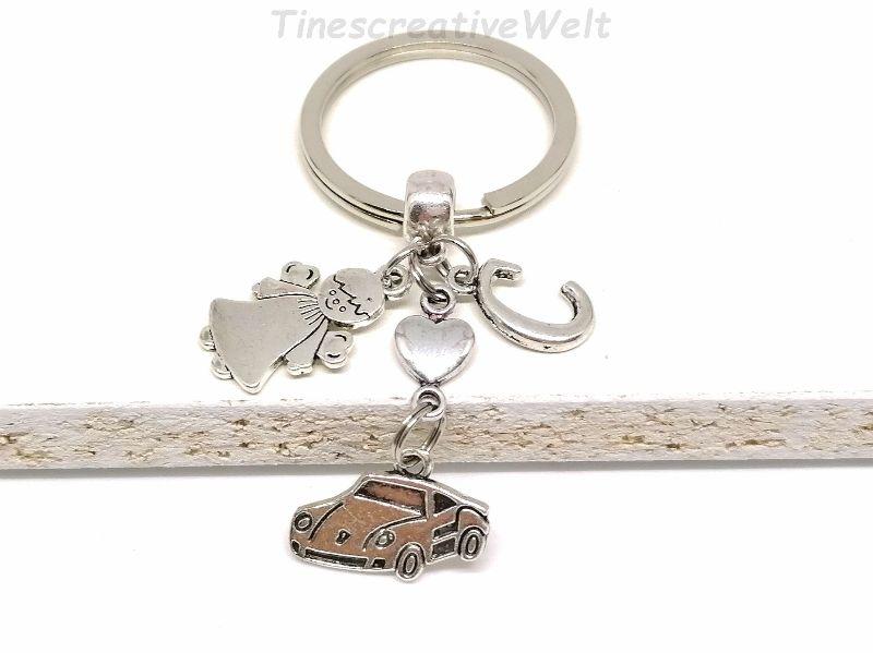 - Personalisierter Schlüsselanhänger, Auto, Schutzengel, Glücksbringer, Herz, Autoreise, Geschenk - Personalisierter Schlüsselanhänger, Auto, Schutzengel, Glücksbringer, Herz, Autoreise, Geschenk