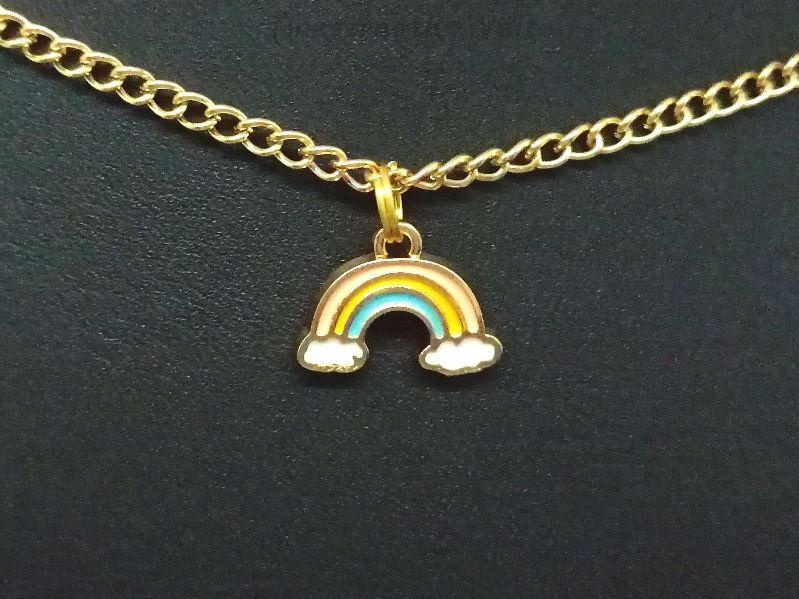 - Kette, Regenbogen, Wolken, Emaille, bunt, Regenbogenkette, Geschenk - Kette, Regenbogen, Wolken, Emaille, bunt, Regenbogenkette, Geschenk
