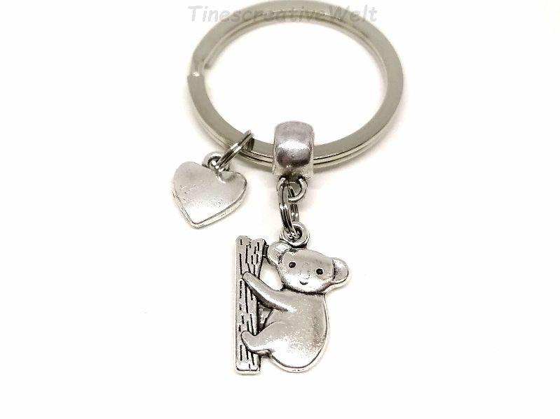 - Schlüsselanhänger, Koala, Koalabär, Bär, Herz, Taschenbaumler, Geschenk Frauen - Schlüsselanhänger, Koala, Koalabär, Bär, Herz, Taschenbaumler, Geschenk Frauen