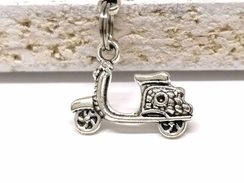 Kleinesbild - Schlüsselanhänger, Motorroller, Gute Fahrt, Führerschein, Herz, Glücksbringer, Kleeblatt, Geschenk