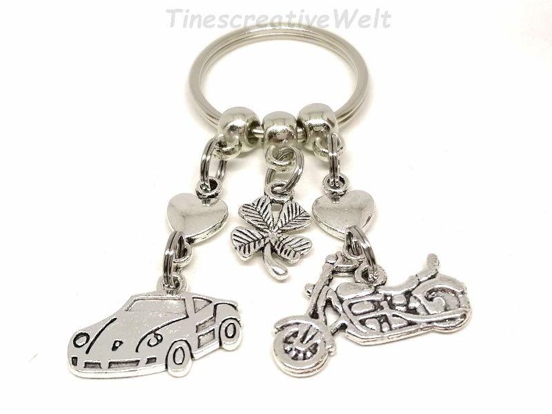 - Schlüsselanhänger, Motorrad, Auto, fahr vorsichtig, Führerschein, Herz, Kleeblatt, Glücksbringer, Geschenk, Geburtstag - Schlüsselanhänger, Motorrad, Auto, fahr vorsichtig, Führerschein, Herz, Kleeblatt, Glücksbringer, Geschenk, Geburtstag