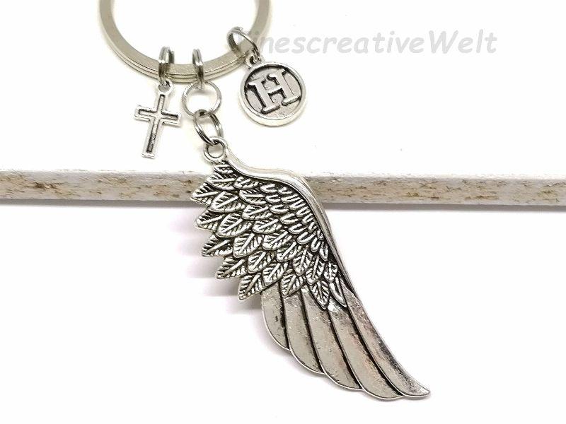 - Personalisierter Schlüsselanhänger, Engelsflügel, Herz, Taschenanhänger, Glücksbringer, Geschenkidee  - Personalisierter Schlüsselanhänger, Engelsflügel, Herz, Taschenanhänger, Glücksbringer, Geschenkidee