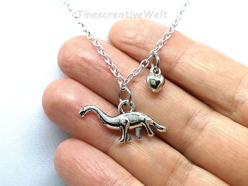 Kleinesbild - Kette, Dinosaurier, Brachiosaurus, Gliederkette, Geschenk für Jungen, Geschenk für Männer