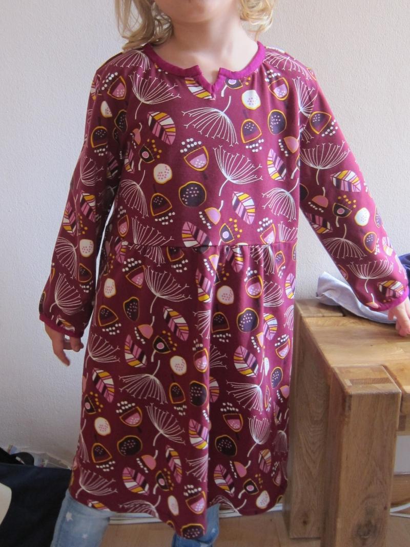 - Langarm Bio Jersey Kleid Burgunder Blaubeer Traum Größe 128 Herbst Kleid mit langen Armen - Langarm Bio Jersey Kleid Burgunder Blaubeer Traum Größe 128 Herbst Kleid mit langen Armen