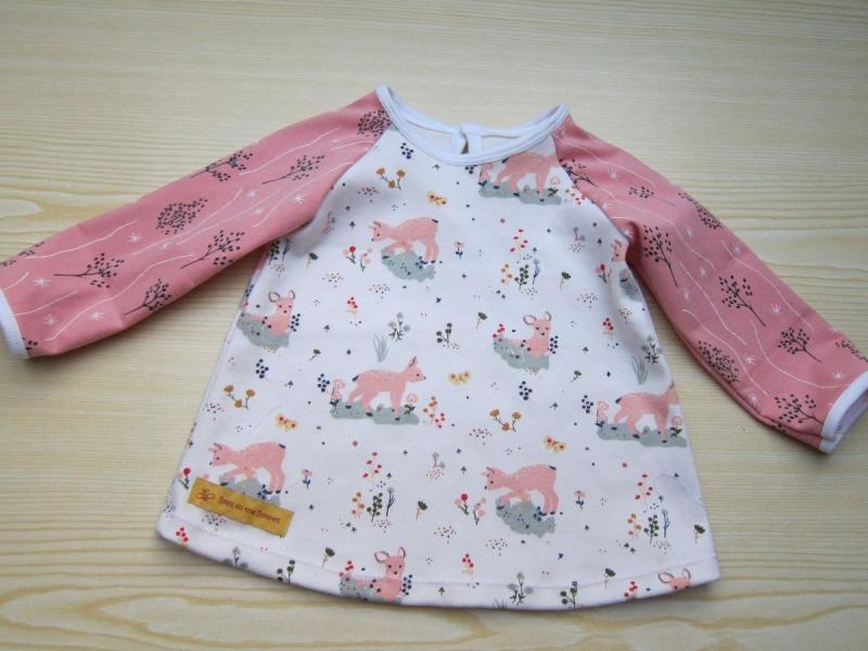 - Baby rosa Eco Rehkitz Kleidchen, Baby Tunika, T-shirt Kleid in Größe 62-68, verschieden Größen möglich - Baby rosa Eco Rehkitz Kleidchen, Baby Tunika, T-shirt Kleid in Größe 62-68, verschieden Größen möglich