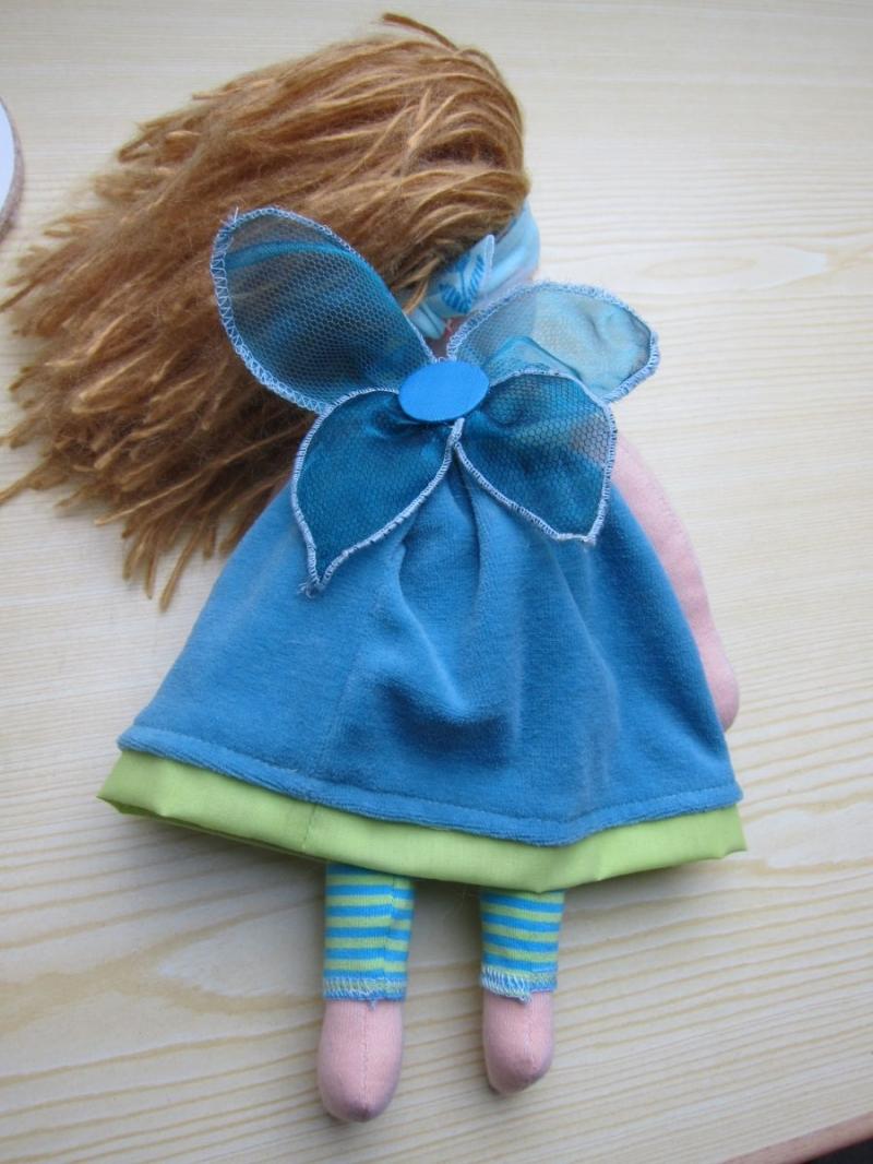 Kleinesbild - Puppe Arielle - Wasserelfe, Fee, Elfe, Handgenähte Stoff Puppe nach Waldorf stil