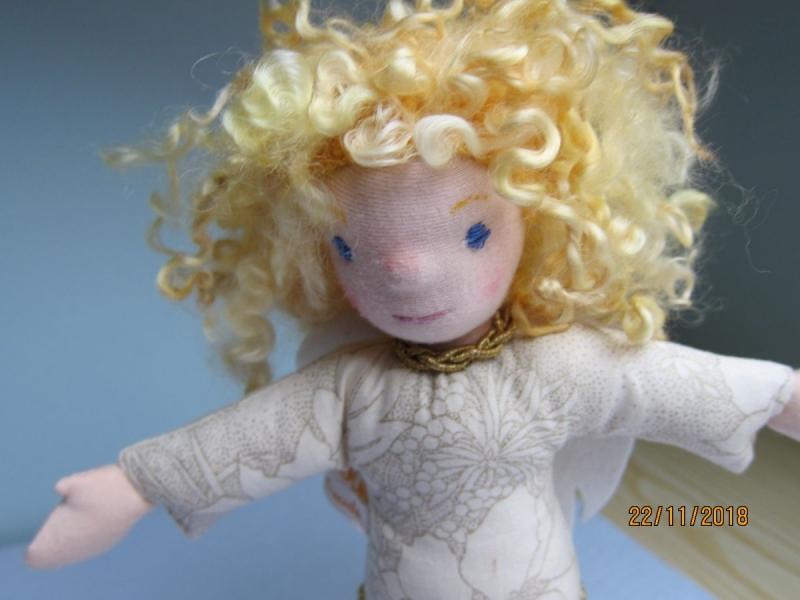 Kleinesbild - Schutzengel Stoffpuppe, Julietta, handgenähte Engels Puppe, Waldorfstil, Weihnachten, Taufe, Schulanfang
