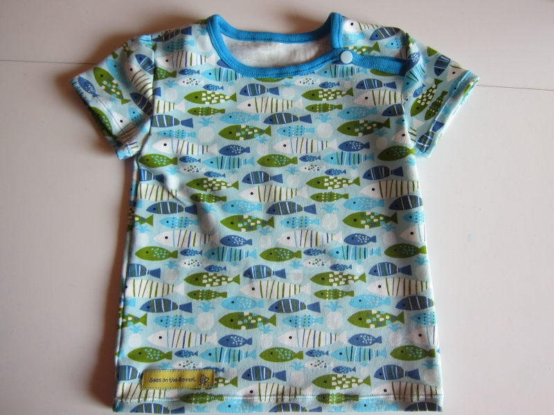 - Jersey T-shirt kurz Arm Marine Bio Jersey Bienen Groeße 98  - Jersey T-shirt kurz Arm Marine Bio Jersey Bienen Groeße 98