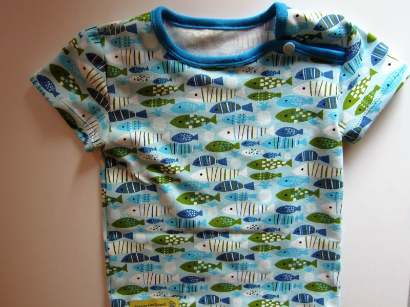 Kleinesbild - Jersey T-shirt kurz Arm Marine Bio Jersey Bienen Groeße 98