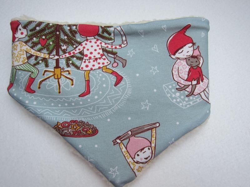 - Loop Schal, Christmas time Schal mit Alpine Fleece Futter, Öko Kinder Schal, Weihnachtsmotif - Loop Schal, Christmas time Schal mit Alpine Fleece Futter, Öko Kinder Schal, Weihnachtsmotif