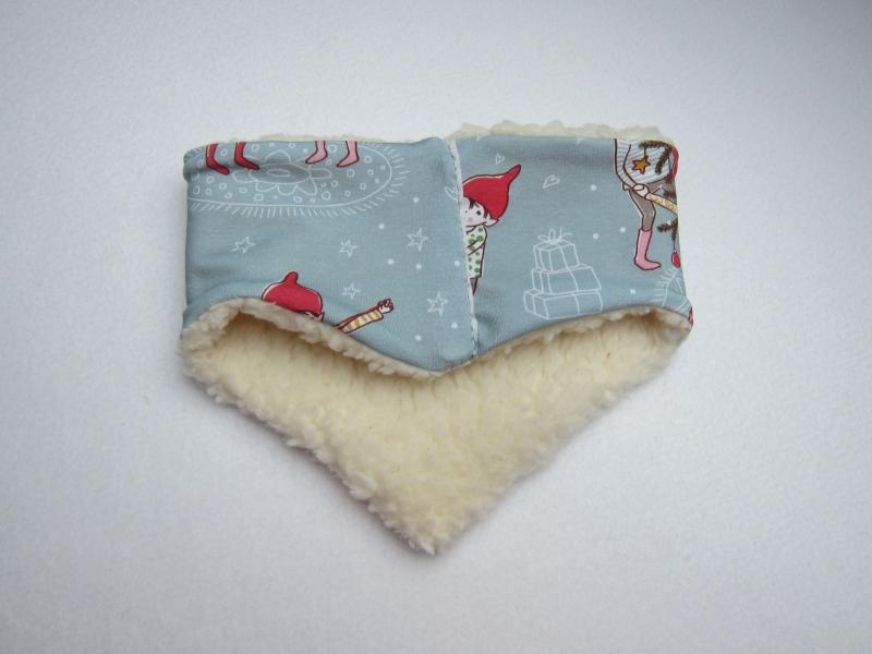 Kleinesbild - Loop Schal, Christmas time Schal mit Alpine Fleece Futter, Öko Kinder Schal, Weihnachtsmotif