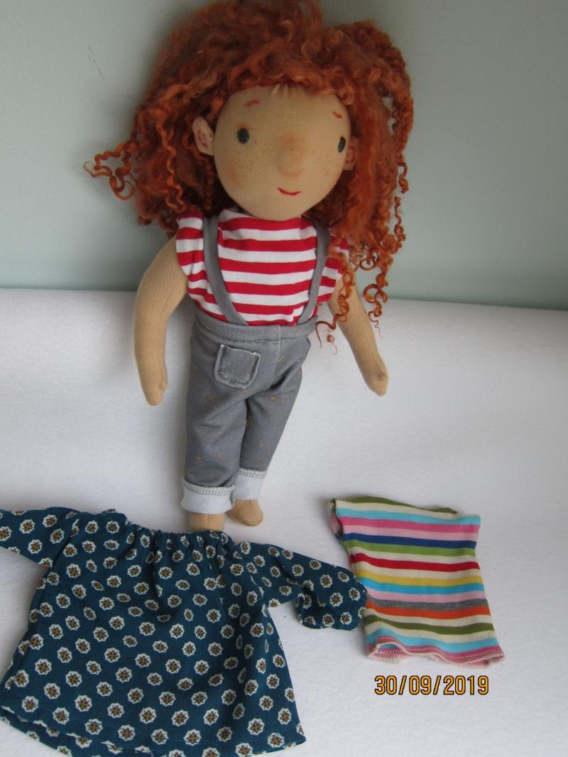 - Öko Puppen Tunika mit Pumphose für handgemachte Waldorf Puppen Größe 30 - 35 cm - Öko Puppen Tunika mit Pumphose für handgemachte Waldorf Puppen Größe 30 - 35 cm