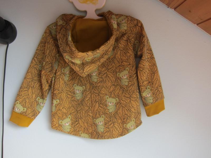 Kleinesbild - Koala Baby Hoody Sweatshirt Jacke in Öko Baumwolle  Größe 80-92,  Schlupf Hoodie Herbstfarben