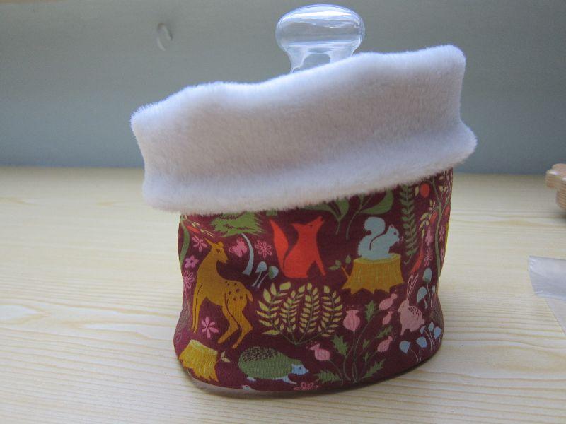 Kleinesbild - Mütze und Loop Schal, Woodland Magic Schal mit Alpine Fleece Futter, Öko Kinder Schal, Waldtiere