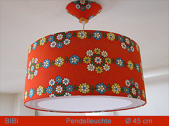 Kleinesbild - Hängelampe Retrodesign BIBI Ø 45 cm Pendellampe 70er Jahre