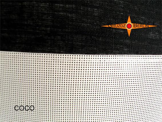 Kleinesbild - Schwarz Weisse Hängelampe COCO Ø 60  Leinen mit Diffusor