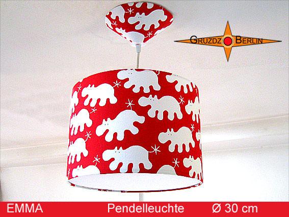 Kleinesbild - Kinderlampe EMMA mit Nilpferd Ø 30 cm Pendelleuchte