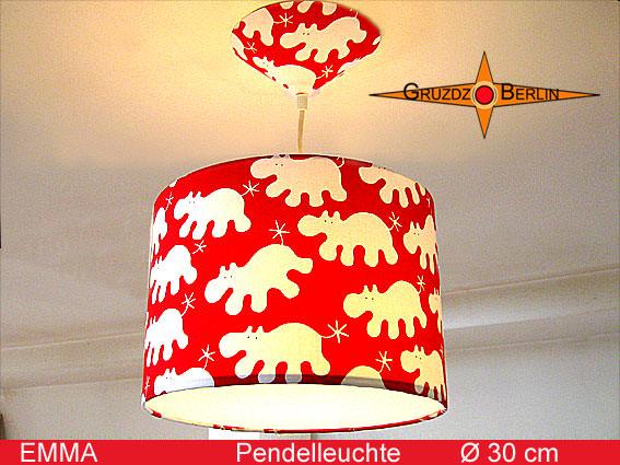 - Kinderlampe EMMA mit Nilpferd Ø 30 cm Pendelleuchte - Kinderlampe EMMA mit Nilpferd Ø 30 cm Pendelleuchte