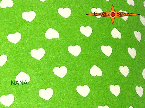 Kleinesbild - Grüner Kinderlampenschirm NANA Ø40 cm mit Herzen