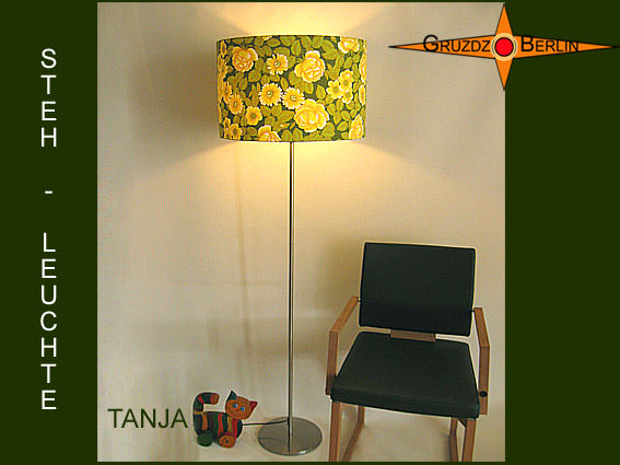 wohnen gr ne lampe vintage design tanja 40 cm. Black Bedroom Furniture Sets. Home Design Ideas