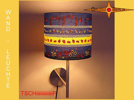 Kleinesbild - Wandlampe TSCHiiiiiiiP Kinderlampe Wandleuchte mit Vögeln Bienen
