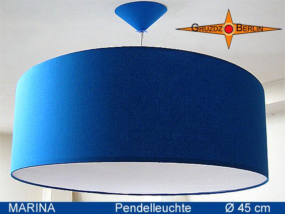 - Blaue Hängelampe MARINA Ø45 cm mit Diffusor - Blaue Hängelampe MARINA Ø45 cm mit Diffusor