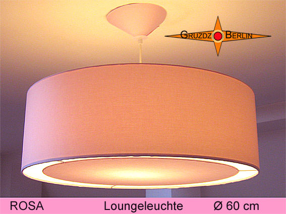leuchten lampen gro e h ngelampe rosa 60 cm mit lichtrand diffusor. Black Bedroom Furniture Sets. Home Design Ideas