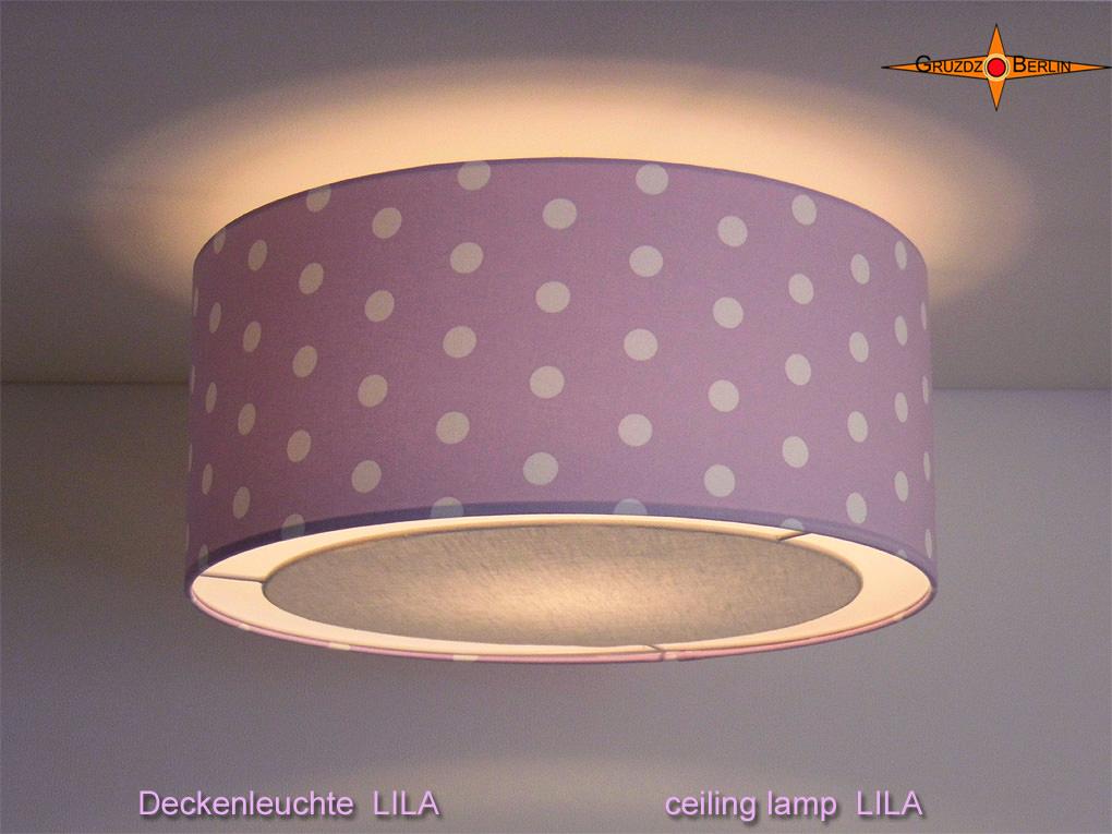 - Lila Deckenlampe mit Punkten LILA Ø45 cm und Lichtrand Diffusor - Lila Deckenlampe mit Punkten LILA Ø45 cm und Lichtrand Diffusor