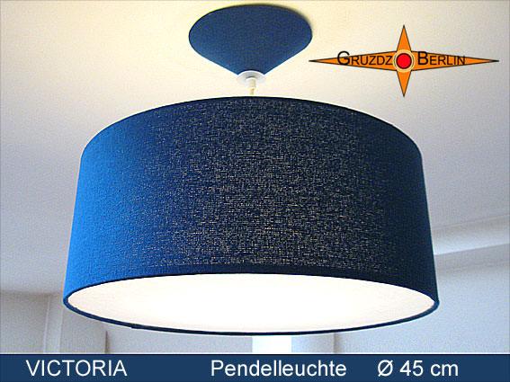 Wohnen Blaue Lampe Aus Seide Victoria ø45 Cm Mit Diffusor