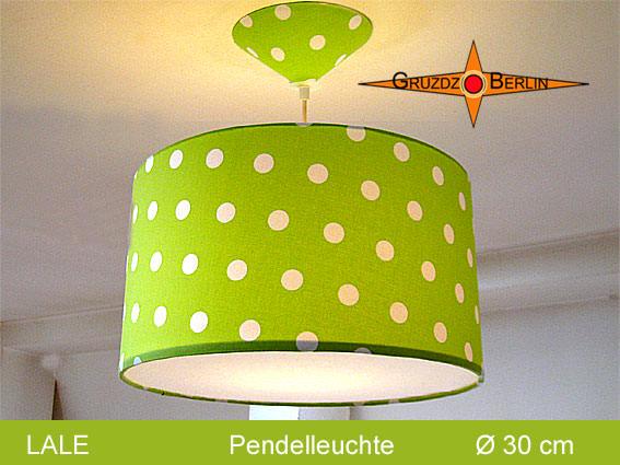- Grüne Lampe mit Punkten LALE Ø30 cm mit Diffusor - Grüne Lampe mit Punkten LALE Ø30 cm mit Diffusor