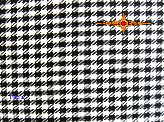 Kleinesbild - Lampenschirm PEPITA Ø45 cm Schwarz Weiße