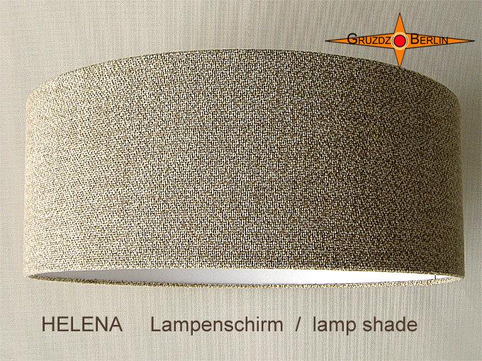 Kleinesbild - Lampenschirm aus Leinen beige HELENA Ø50 cm Bauernleinen Lampe