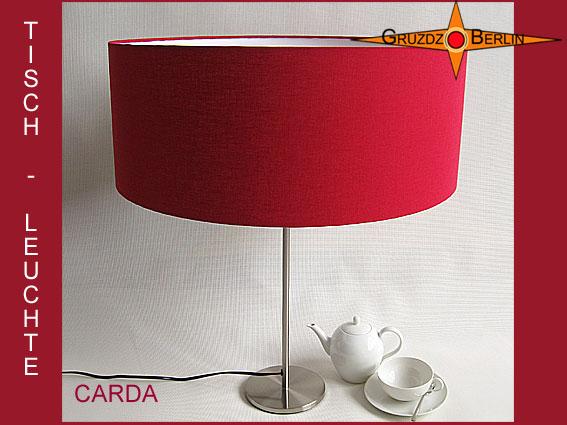 - Tischleuchte bordo CARDA Tischlampe bordeaux Leinen - Tischleuchte bordo CARDA Tischlampe bordeaux Leinen