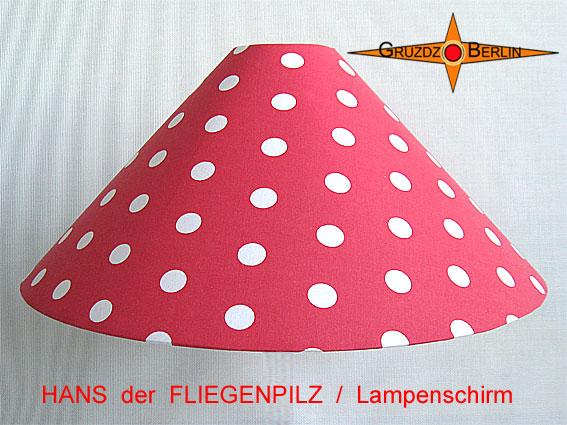 - Kinderlampenschirm HANS der FLIEGENPILZ Ø50/10 Lampenschirm mit Punkten - Kinderlampenschirm HANS der FLIEGENPILZ Ø50/10 Lampenschirm mit Punkten