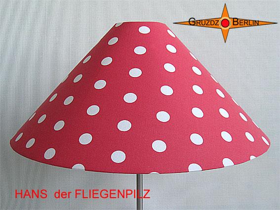 Kleinesbild - Kinderlampenschirm HANS der FLIEGENPILZ Ø50/10 Lampenschirm mit Punkten