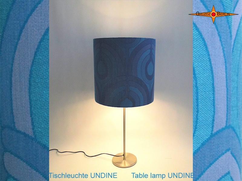 Kleinesbild - Blaue Vintage Tischlampe UNDINE Tischleuchte im Pantonstil
