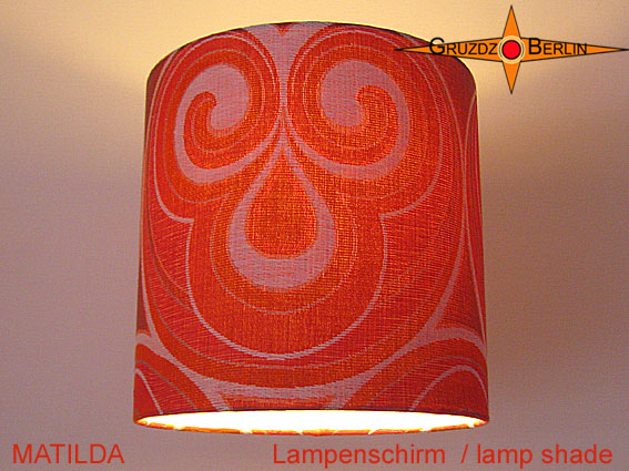 Kleinesbild - Vintage Lampenschirm MATILDA Ø35 cm Retrodesign 70er Pantonstil Lampe